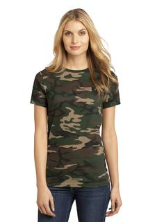 District Made® - Ladies Perfect Weight® Camo Crew Tee