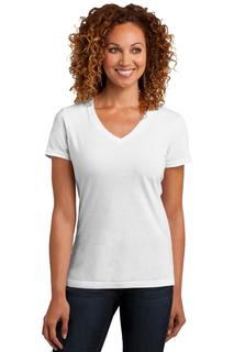 District Made® Ladies Perfect Blend® V-Neck Tee.
