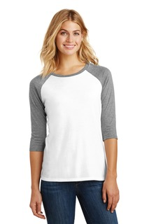 District Made® Ladies Perfect Tri® 3/4-Sleeve Raglan.