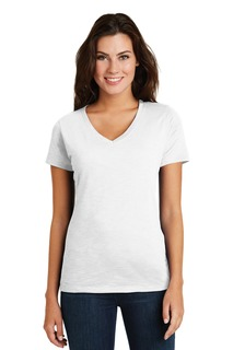 District ® Womens Super Slub® V-Neck Tee.-