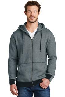 District Made® - Mens Mini Stripe Full-Zip Hoodie.