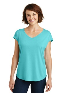 District ® Womens Drapey Cross-Back Tee.-