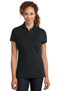 District Made Ladies Stretch Pique Polo.