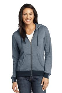 District Made® - Ladies Mini Stripe Full-Zip Hoodie