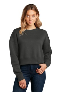 District ® Womens Perfect Weight ® Fleece Cropped Crew-