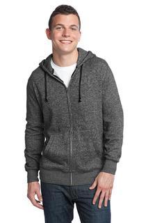 District® - Young Mens Marled Fleece Full-Zip Hoodie