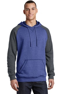 District Hospitality Sweatshirts & Fleece ® Young Mens Lightweight Fleece Raglan Hoodie.-District