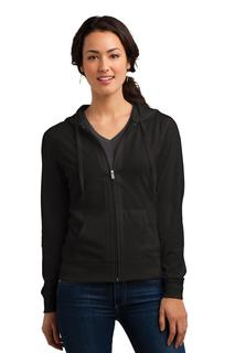 District® Womens Fitted Jersey Full-Zip Hoodie.-District