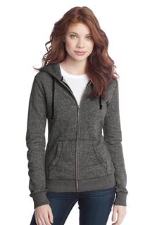 District® - Juniors Marled Fleece Full-Zip Hoodie