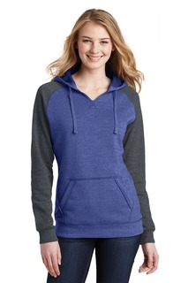 District® Womens Lightweight Fleece Raglan Hoodie.-
