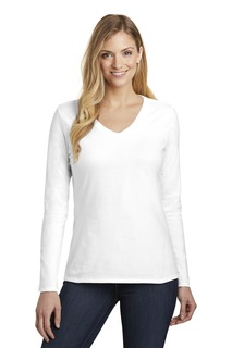 District ® Womens Very Important Tee ® Long Sleeve V-Neck.-