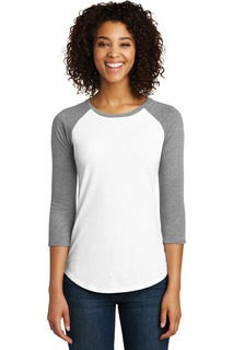 District® Womens Fitted Very Important Tee® 3/4-Sleeve Raglan.-
