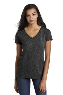 District ® Womens Medal V-Neck Tee.-