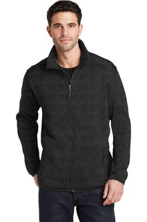Port Authority® Sweater Fleece Jacket.-