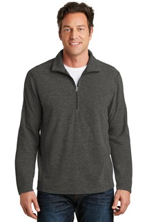 Port Authority® Heather Microfleece 1/2-Zip Pullover.-Port Authority