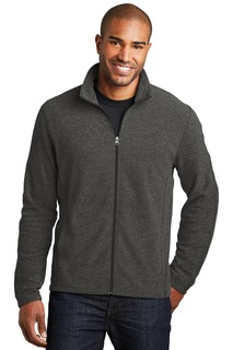 Port Authority® Heather Microfleece Full-Zip Jacket.-Port Authority