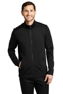 Port Authority Grid Fleece Jacket.-Port Authority