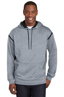 Sport-Tek® Tech Fleece Colorblock Hooded Sweatshirt.-Sport-Tek