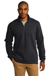 Port Authority® Slub Fleece 1/4-Zip Pullover.-