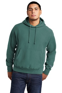 Champion ® Reverse Weave ® Garment-Dyed Hooded Sweatshirt.-Port Authority