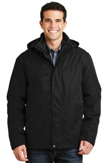 Port Authority® Herringbone 3-in-1 Parka.-Port Authority