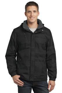 Port Authority® Brushstroke Print Insulated Jacket.-Port Authority