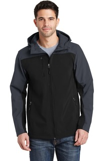 Port Authority® Hooded Core Soft Shell Jacket.-