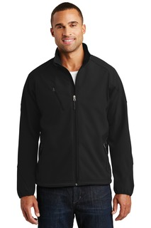 Port Authority® Textured Soft Shell Jacket.-