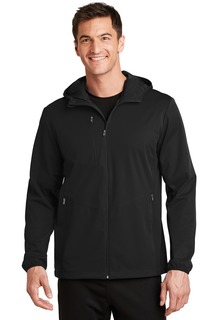Port Authority Active Hooded Soft Shell Jacket.-