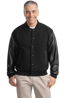 Port Authority® Wool and Leather Letterman Jacket.