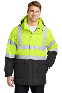 Port Authority ANSI 107 Class 3 Safety Heavyweight Parka.-Port Authority