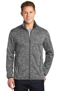 Sport-Tek PosiCharge Electric Heather Soft Shell Jacket.-