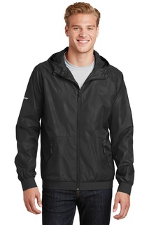 Sport-Tek® Embossed Hooded Wind Jacket.-