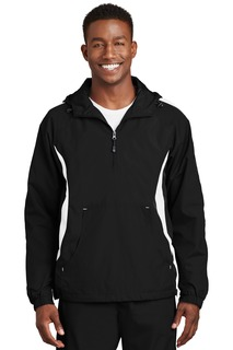 Sport-Tek Hospitality Activewear & Outerwear ® Colorblock Raglan Anorak.-Sport-Tek