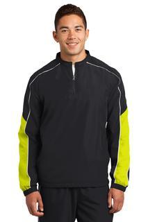 Sport-Tek® Piped Colorblock 1/4-Zip Wind Shirt.