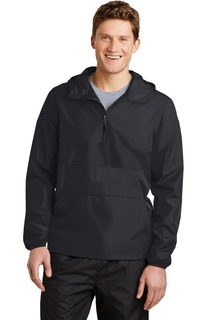 Sport-Tek® Zipped Pocket Anorak.-