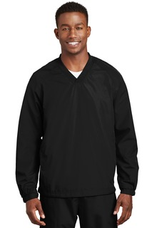Sport-Tek® V-Neck Raglan Wind Shirt.-