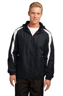 Sport-Tek Fleece-Lined Colorblock Jacket.-