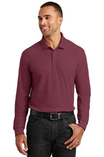 Port Authority® Long Sleeve Core Classic Pique Polo.-