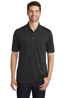 Port Authority® Dry Zone® UV Micro-Mesh Tipped Polo.-Port Authority