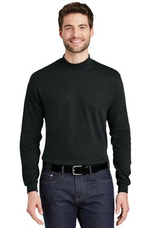 Port Authority® Interlock Knit Mock Turtleneck.-