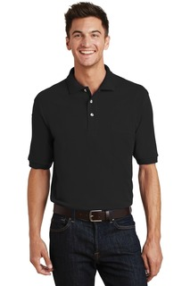 Port Authority® Heavyweight Cotton Pique Polo with Pocket.-Port Authority