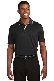 Sport-Tek Dri-Mesh Polo with Tipped Collar and Piping.-