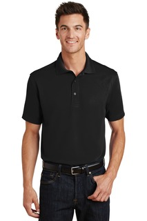 Port Authority® Poly-Charcoal Blend Pique Polo.-Port Authority