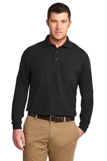 Port Authority Silk Touch Long Sleeve Polo.-Port Authority