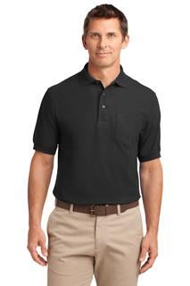 Port Authority Silk Touch Polo with Pocket.-