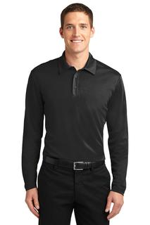 Port Authority® Silk Touch Performance Long Sleeve Polo.-Port Authority