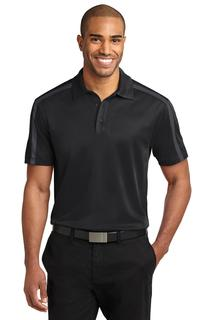Port Authority Silk Touch Performance Colorblock Stripe Polo.-