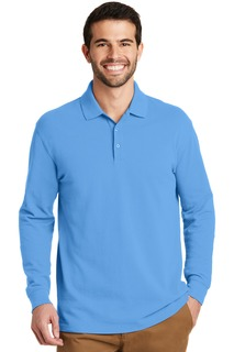Port Authority® EZCotton Long Sleeve Polo.-Port Authority