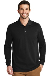 Port Authority Hospitality Shirts Mens Port Authority® EZCotton® Long Sleeve Polo.-Port Authority